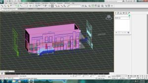 House Building modelling - perspective down. by Azunatsu