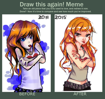 Draw this again meme by Avvyraptor