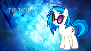 Vinyl Scratch DJ PON-3 Wallpaper by StarLullaby