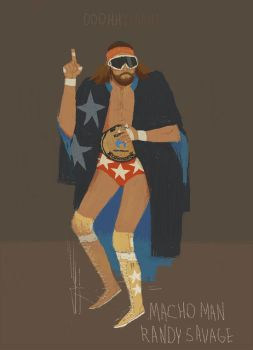 macho man randy savage by louisroskosch