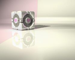 Companion Cube Wallpaper by MikeWonKon