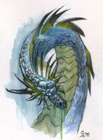 Dragon Water color 2 by Gabor-Bd