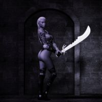 Drow Warrioress by Byakhee