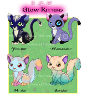 Adoptables_Glow Kittens by EmeraldSora