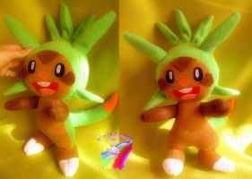 CHESPIN POKEMON X Y PLUSH by chocoloverx3