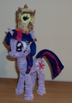 Twilight and Owlowiscious by PonyCrafter