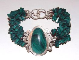 Malachite Bracelet by Artsee1