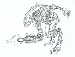 Sketch - Klik mech study by witchking08