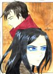 Ergo Proxy - Vincent and Re-L by ForgottenDemonShadow