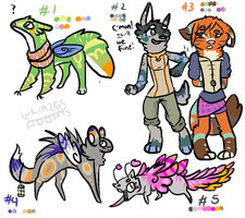 even MORE OTA adopts! Reduced minimum price~ by Lukia26
