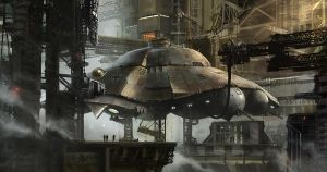 Iron Sky Flying Saucer by Deepskyer