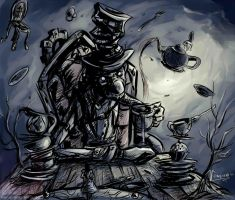 Mad Hatter, Alice Madness by vempirick