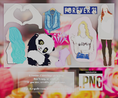 GIRLY OVERLAYS (9 PNG'S). by iLegoDream