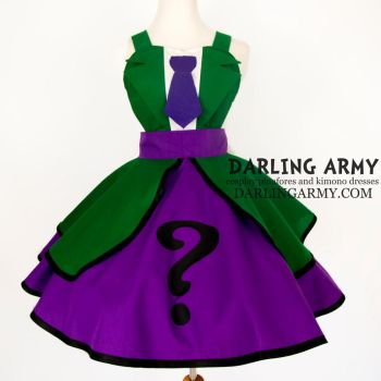 Riddler - Batman - Cosplay Pinafore Dress by DarlingArmy