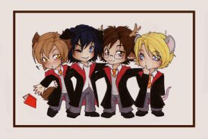 :Chibi Marauders: by Kinky-chichi