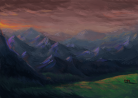 Mountain Colour study by louisesaunders