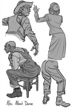 Sketch - Albert Dorne Studies by Thorsten-Denk