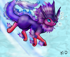The Betta Vaporeon by JitterbugJive