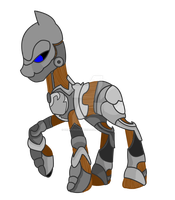 Warforged pony by DraconianQueen
