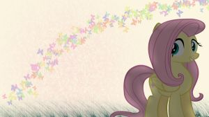 Fluttershy Wallpaper by PedroRabidBunny