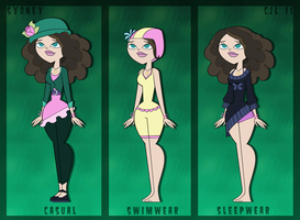 OC ref sheets: Sydney by CjLowery
