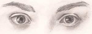 Eyes sketch by Rahona
