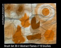 Brush Set 30 - Abstract Flames by punksafetypin