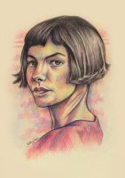 Amelie traditional art 2 by KDLIG
