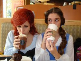 D princesses Starbucks style by ArielVanDeKamp