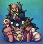Eternal Moonkin Commission (with Bunnies!) by bawky
