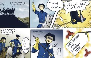 Really stupid comic about Charles XII of sweden by Sildesalaten