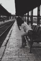 Waiting for the train by AMMozart
