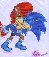 Sonic and Sally colorful by heitor-jedi