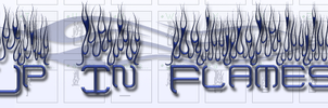 Up In Flames Font by jbensch