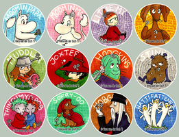 Moomin Stickers - Batch 1 by Genolover