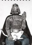 Lord Vader with a cat by Tale-Gatherer