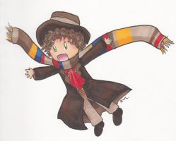 The Fourth Doctor and his Flying Scarf by Himawari-chan