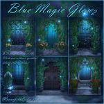 Blue Magic Glow 2 backgrounds by moonchild-ljilja