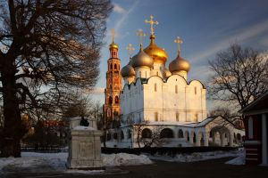 The Novodevichy Convent. Late winter evening by Nickdan