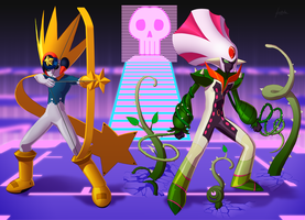 Starman_EXE and Plantman_EXE by fradarlin