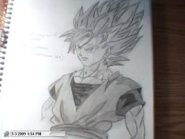 drawing of ss2 Goku by StaticFOOL100