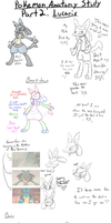 Pokemon Anatomy study - Lucario by Evildraws