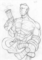 HellBoy Pencils by FATRATKING