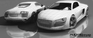 Audi R8 spyder Modeling by ShadyDesigns