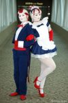 Candy Kingdom Staff - Peppermint Butler and Maid by xHee-Heex