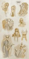 Elves - sketches II by Eis-Blasich