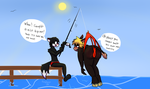 A Nice Catch *commission* by DrJoshfox