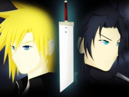 FF : 2nd and 3rd buster sword holder by Ayuda96