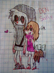 BENxSally (Drawing in pen) by Menathehedgehog