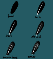 Feather Tutorial SAI by Fur3ver